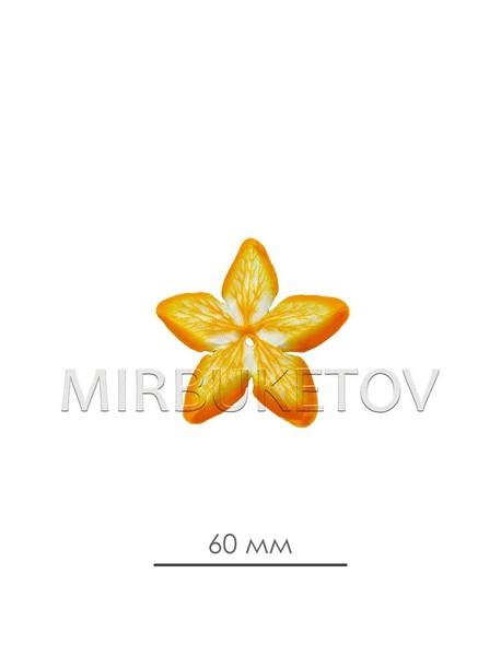 Пресс цветок атласная вставка лимонная A+