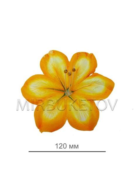 Пресс цветок лимонный ландыш атлас E1, диаметр 120 мм, в упаковке 100 штук