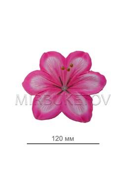 Пресс цветок светло-розовый ландыш атлас E1, диаметр 120 мм, в упаковке 100 штук