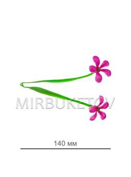 Добавка пластиковая с сиреневыми цветочками B104 , высота 140 мм