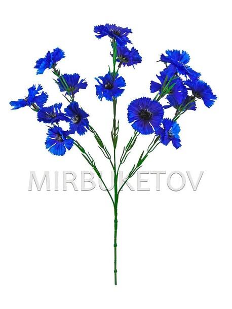 Василек одиночная веточка на 15 голов темно-синяя, высота 580 мм, M030