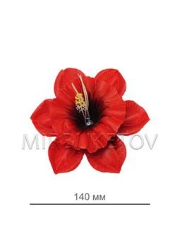 Нарцисс атласный красный с кантом A114