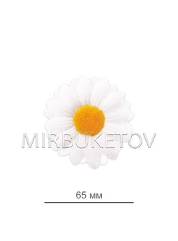 Ромашка белая шелковая, 65 мм, K100