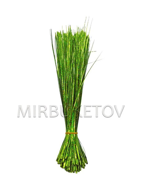Добавка травка блеск, высота 300 мм, в упаковке 200 штук, цена 22 копейки