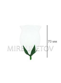 Роза бутон шелковый средний, 70 мм