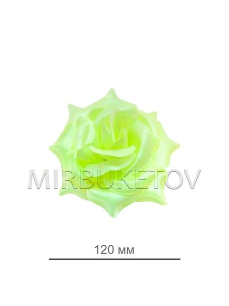 Роза атласная открытая салатовая 69-2