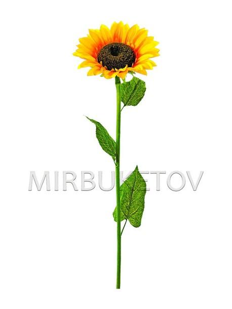 Искусственные цветы Премиум Подсолнух на ножке, 110 см