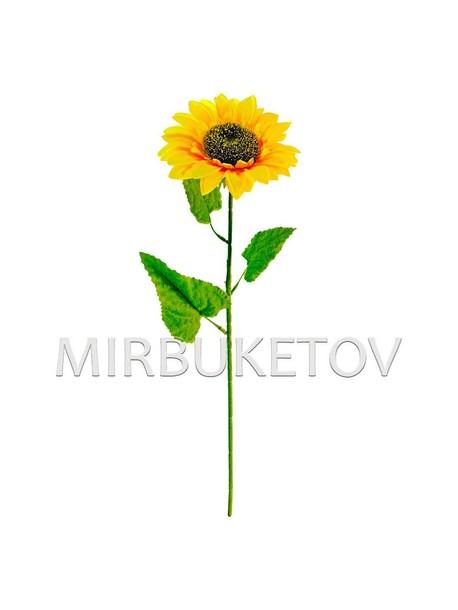 Искусственные цветы Премиум Подсолнух на ножке, 68 см