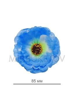 Мак голубой шелковый, диаметр 85 мм, в упаковке 50 шт B44
