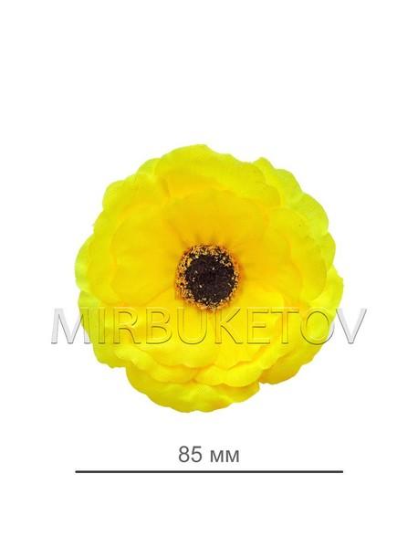 Мак лимонный шелковый, диаметр 85 мм, в упаковке 50 шт B44
