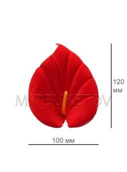 Калла бархат красная выота 120 мм, в упаковке100 шт.