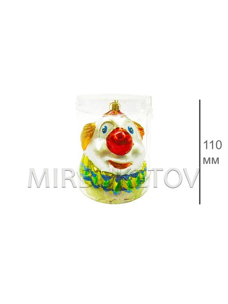 Клоун, высота 110 мм, 1 игрушка в упаковке, 305