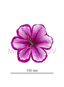 Пресс цветок лилия атлас, сиреневая, диаметр 140 мм E2