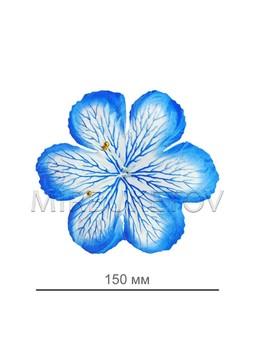 Пресс цветок гербера голубая атлас E3