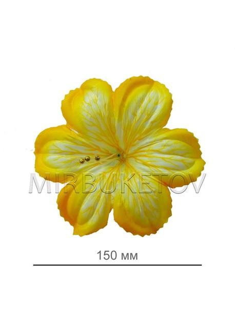 Пресс цветок гербера лимонная атлас E3
