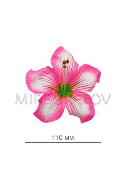 Пресс цветок розовая кувшинка атлас E5
