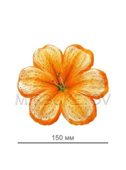 Пресс цветок мальва желтая атлас E8