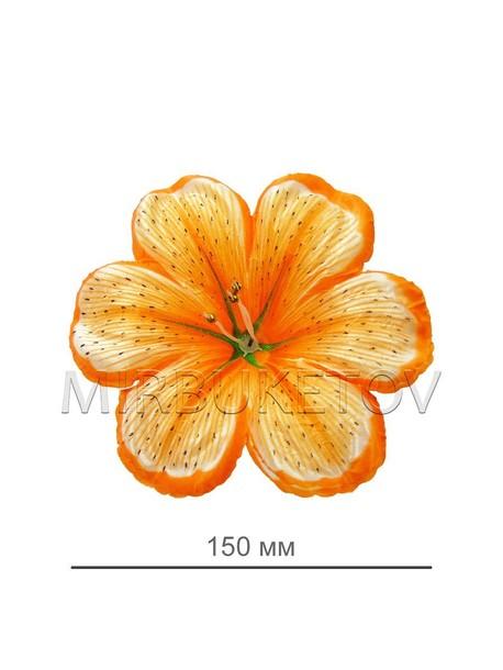 Искусственные Пресс цветы Мальва, атлас, 150 мм