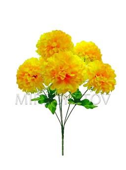 Букет хризантема на 7 голов лимонная
