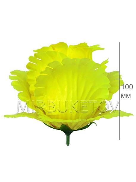 Роза бутон лимонный атласный гигант F25