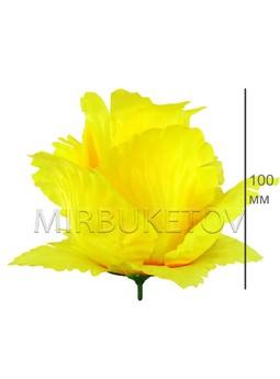 Роза бутон лимонный с попкой атласный гигант F25