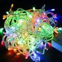 Гирлянда LED разноцветная 100 - 500 ламп на прозрачном проводе