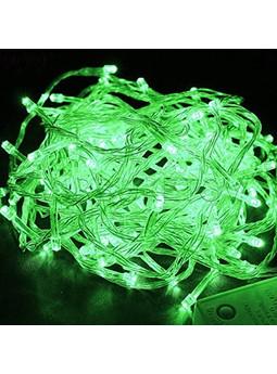 Гирлянда LED зеленая 100 - 500 ламп на прозрачном проводе