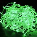 Гирлянда LED зеленая 100-500 ламп на прозрачном проводе, LEDGreen-T