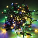 Гирлянда разноцветная 400 ламп на черном проводе