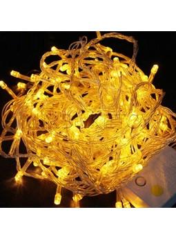 Гирлянда LED желтая 100 - 500 ламп на прозрачном проводе