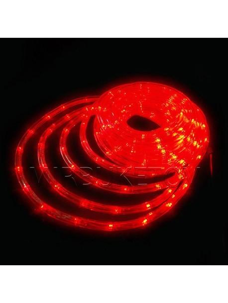 Гирлянда дюралайт LED красного цвета 10 метров