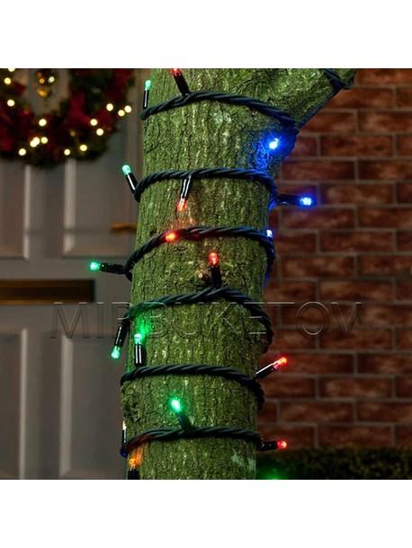 Профессиональная уличная каучуковая гирлянда 100 LED мультик