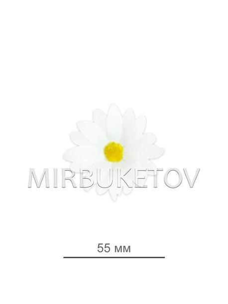 Ромашка белая шелковая 55 мм K103