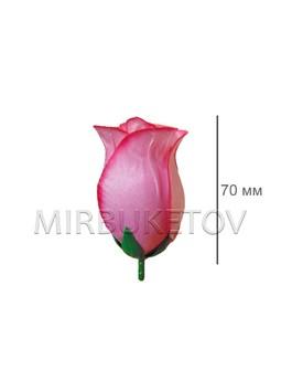 Роза розовый с кантом бутон шелковый средний