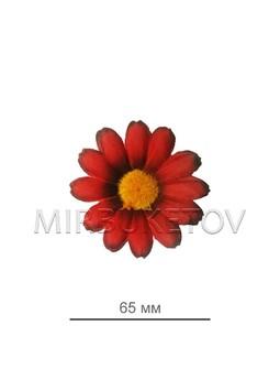 Ромашка красная с кантом 65 мм
