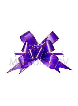 Бант темно-сиреневый для украшения подарков SB01