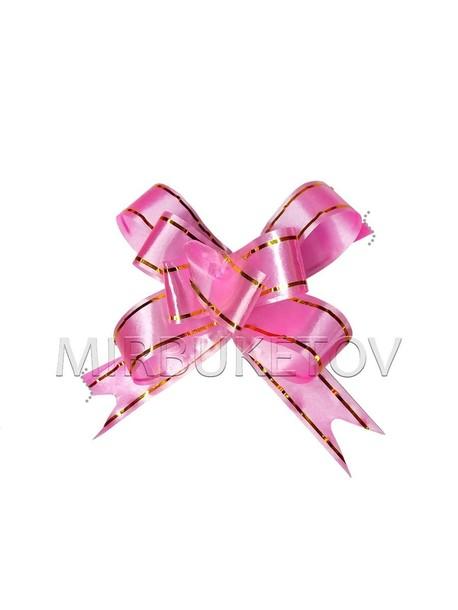 Бант розовый для украшения подарков SB01