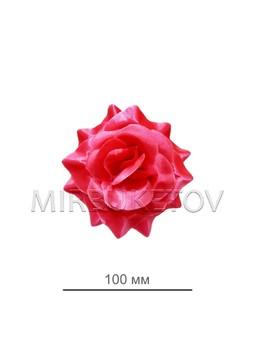 Роза атласная открытая малиновая 69-3SALE