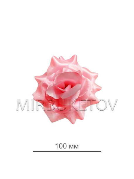 Роза атласная открытая нежно-розовая 69-3SALE