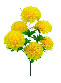 Букет-гигант желтой гвоздики на 6 голов