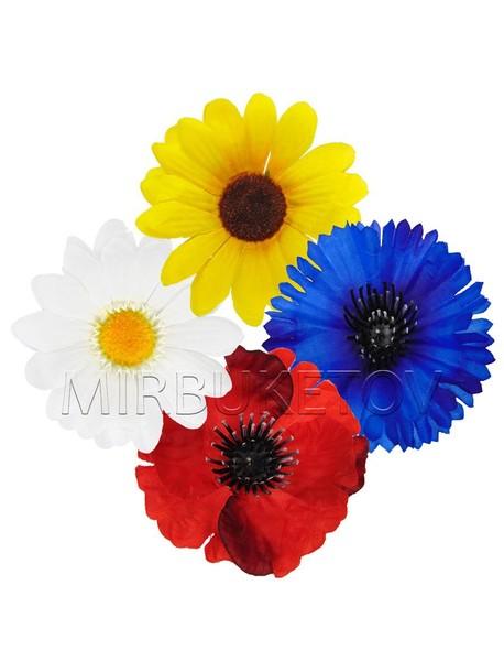 Набор цветочных головок полевых цветов