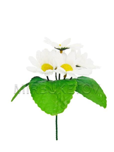 Искусственные цветы Бордюрный букет Ромашки, 5 голов