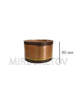 Лента для букетов и венков с черной каймой и золотыми полосами, ширина 60 мм