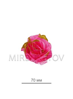 Роза искусственная с тюль сеткой, 70 мм