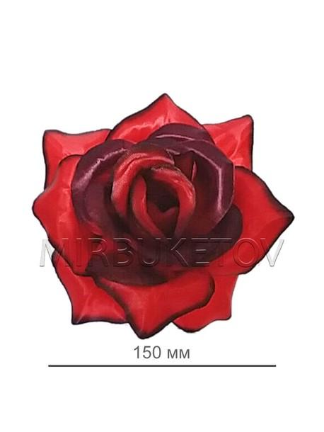 Искусственные цветы Роза открытая, атлас, 150 мм, Распродажа