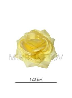 Роза кремовая открытая атласная 120 мм 69-2SALE, Уценка