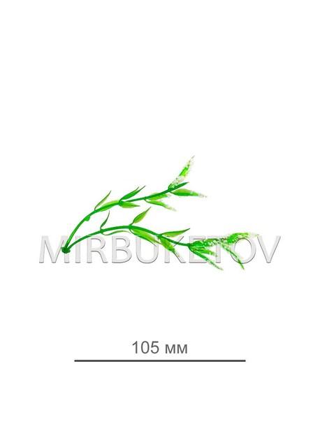 Добавка двойная салатовая с белым напылением B127