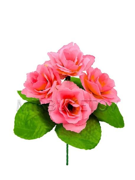 Бордюрный букет искусственной Розы на 5 голов