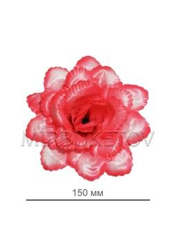 """Роза открытая """"павлин"""" атлас, 150 мм, F65-1"""