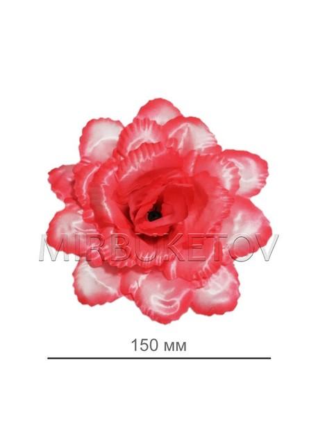 """Искусственные цветы Роза открытая """"павлин"""", атлас, 150 мм"""